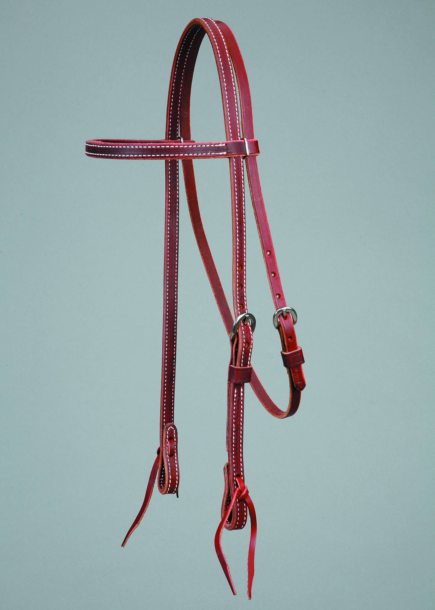 Colorado Saddlery Latigo Browband Headstall with Laced Bit Ends