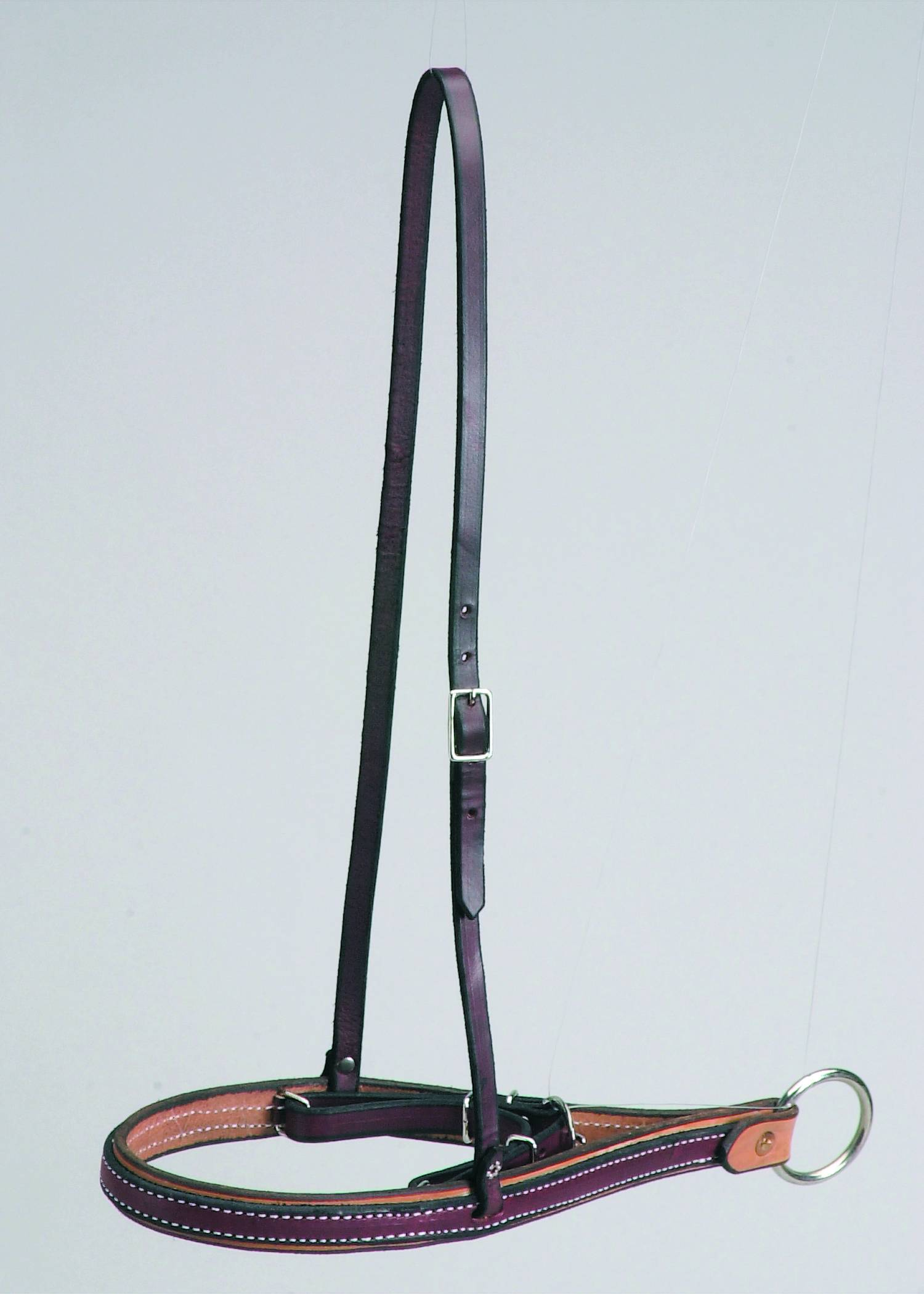 Colorado Saddlery Leather Ropers Drop Nose Noseband With Caveson