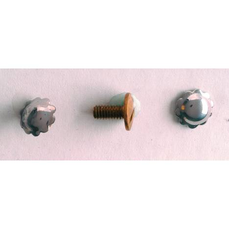 Colorado Saddlery Nickel Silver Screw Back Spots
