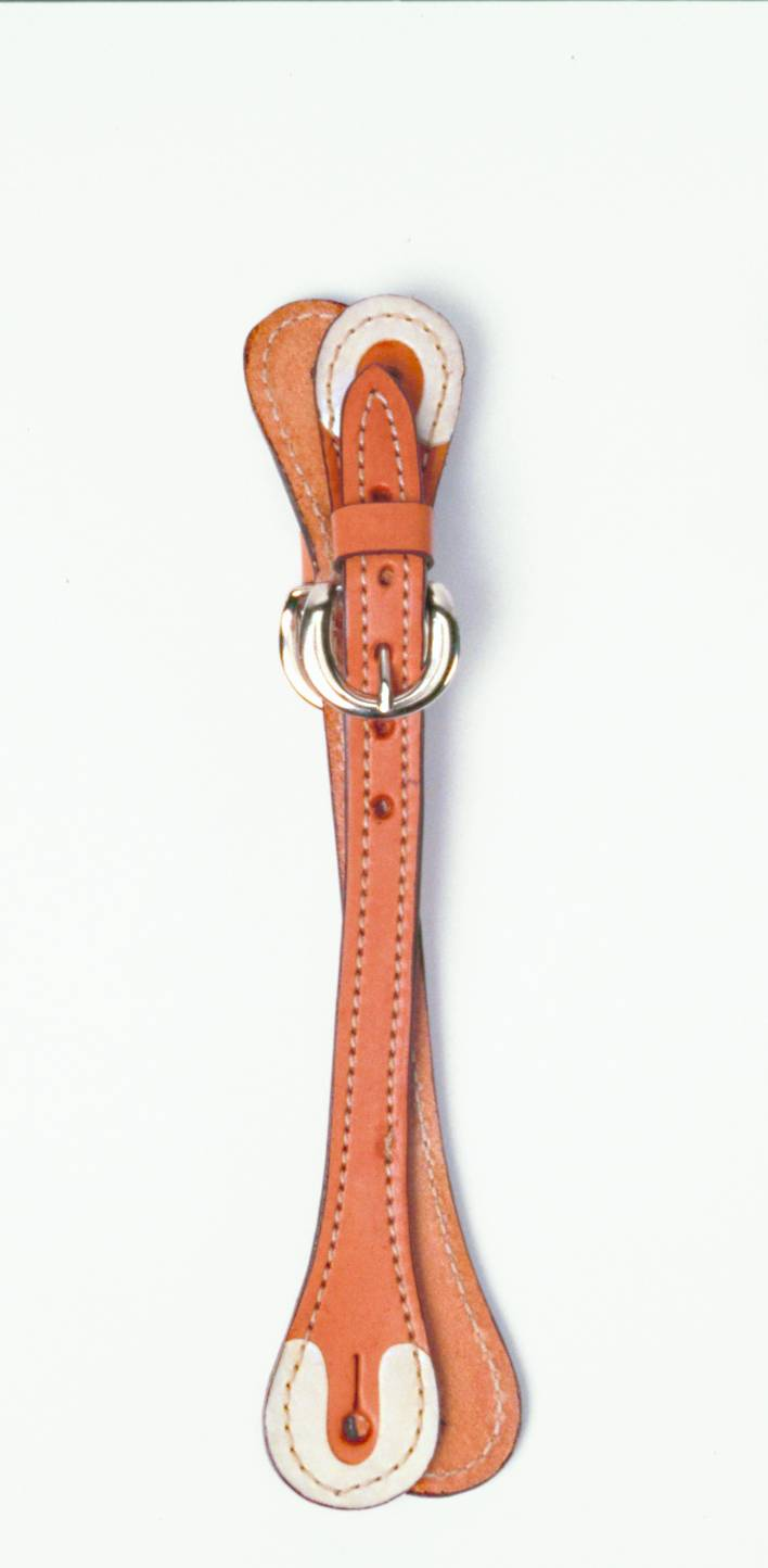 Colorado Saddlery Rawhide Tipped Leather Loop Spur Straps