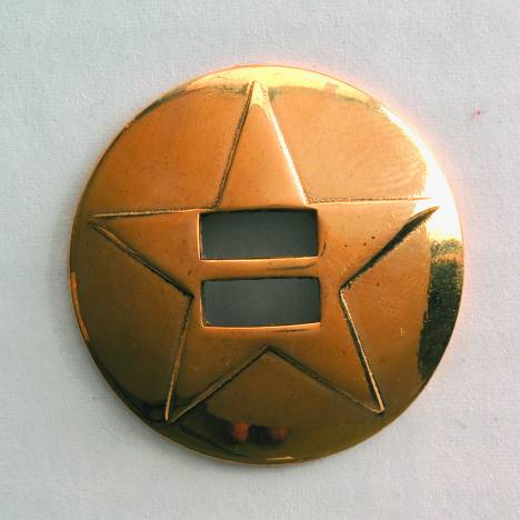 Colorado Saddlery Star Pattern Brass Slotted Concho