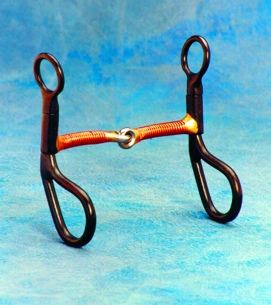 Colorado Saddlery Tear Drop Cheek Copper Wire Wrap Training Bit