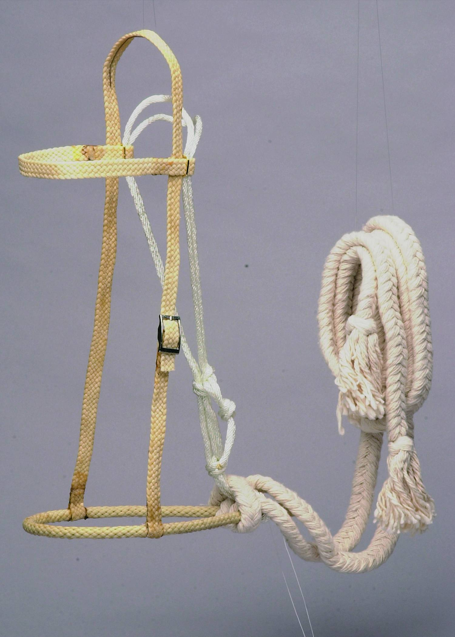 Colorado Saddlery Waxed Rope Hackamore With Cotton Rein