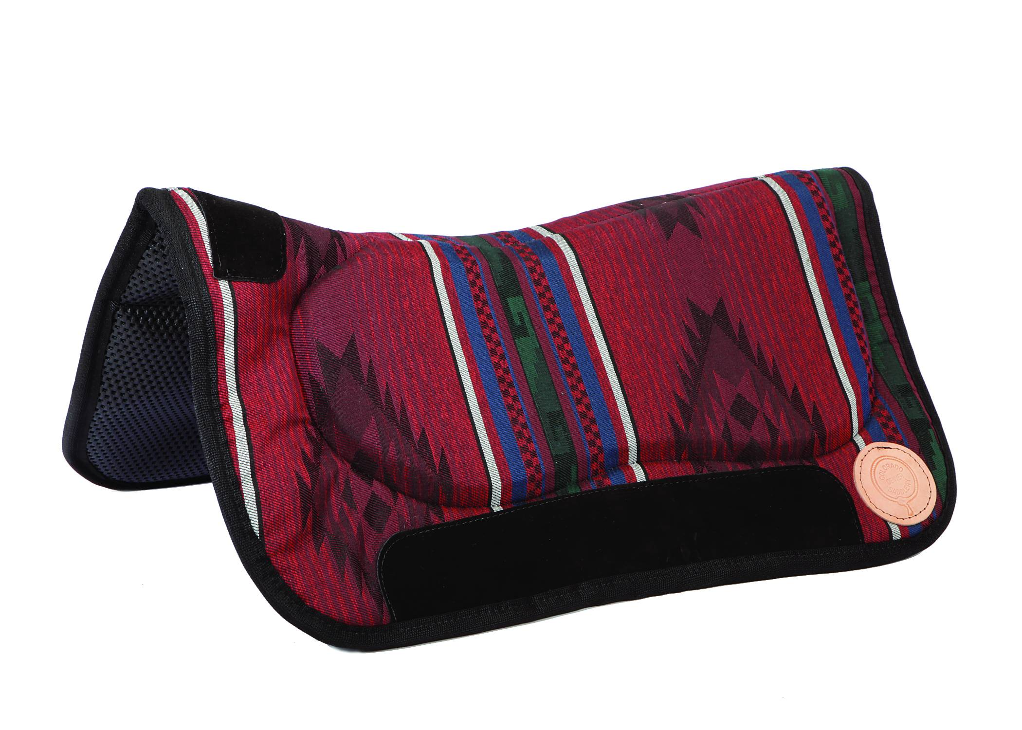 Colorado Saddlery Wild Rose Contoured Waffled Neoprene Bottom Saddle Pad