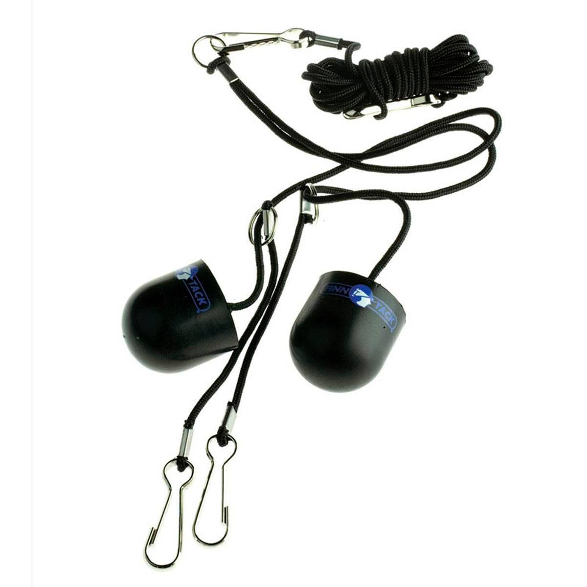 Finn Tack Black Earplugs With Cord
