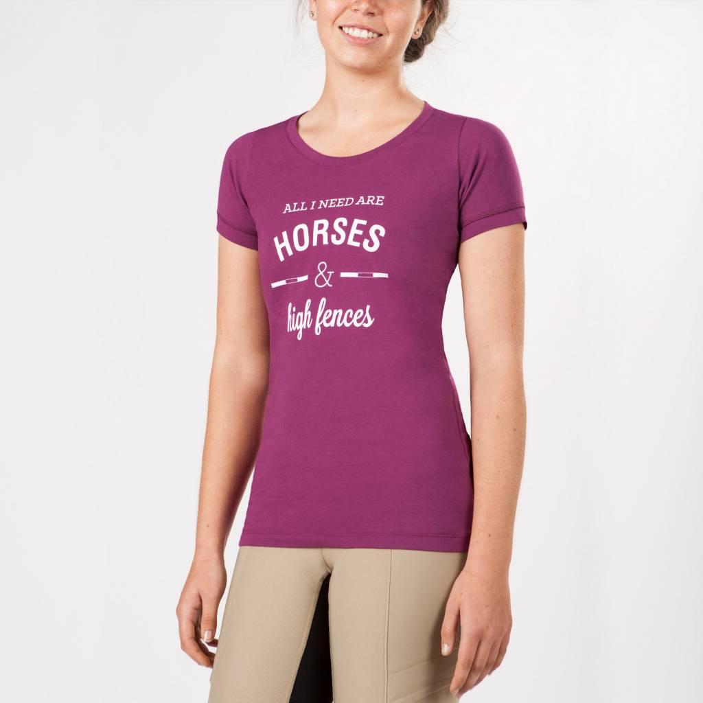 Irideon Horses & High Fences Tee - Ladies
