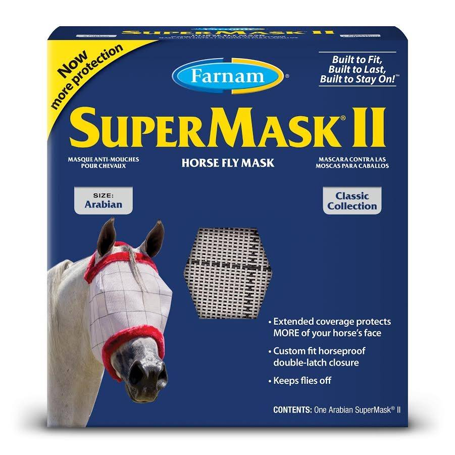 Supermask II Horse Fly Mask without Ears Classic Collection- Arabian