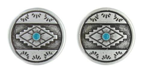 Montana Silversmiths Attitude Jewelry Antiques Aztec Eyes Post Earrings