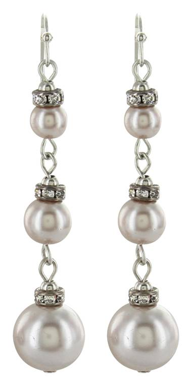 Montana Silversmiths Attitude Jewelry Triple Pearly Drop Earrings