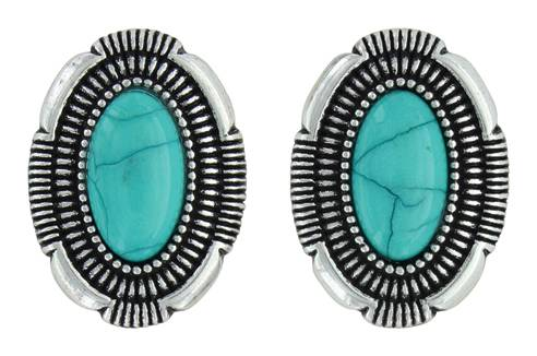 Montana Silversmiths Attitude Jewelry Southwest Hatched Oval Post Earrings
