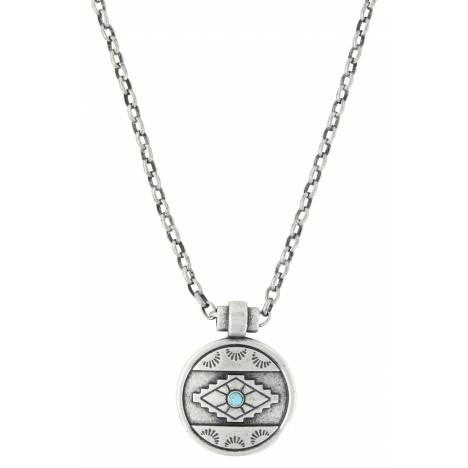 Montana Silversmiths Attitude Jewelry Antiqued Aztec Eyes Necklace