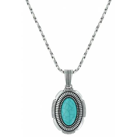 Montana Silversmiths Attitude Jewelry Southwest Hatched Oval Pendant Necklace