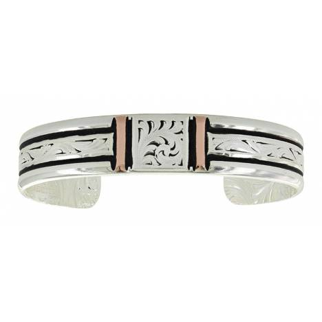 Montana Silversmiths Bar Square Bar Rose Gold Cuff Bracelet