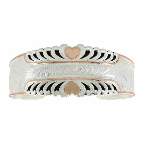 Montana Silversmiths Two Tone Bright Hearts Cuff Bracelet