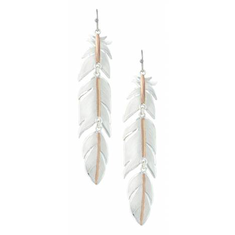 Montana Silversmiths Rose Gold Plume Feather Earrings