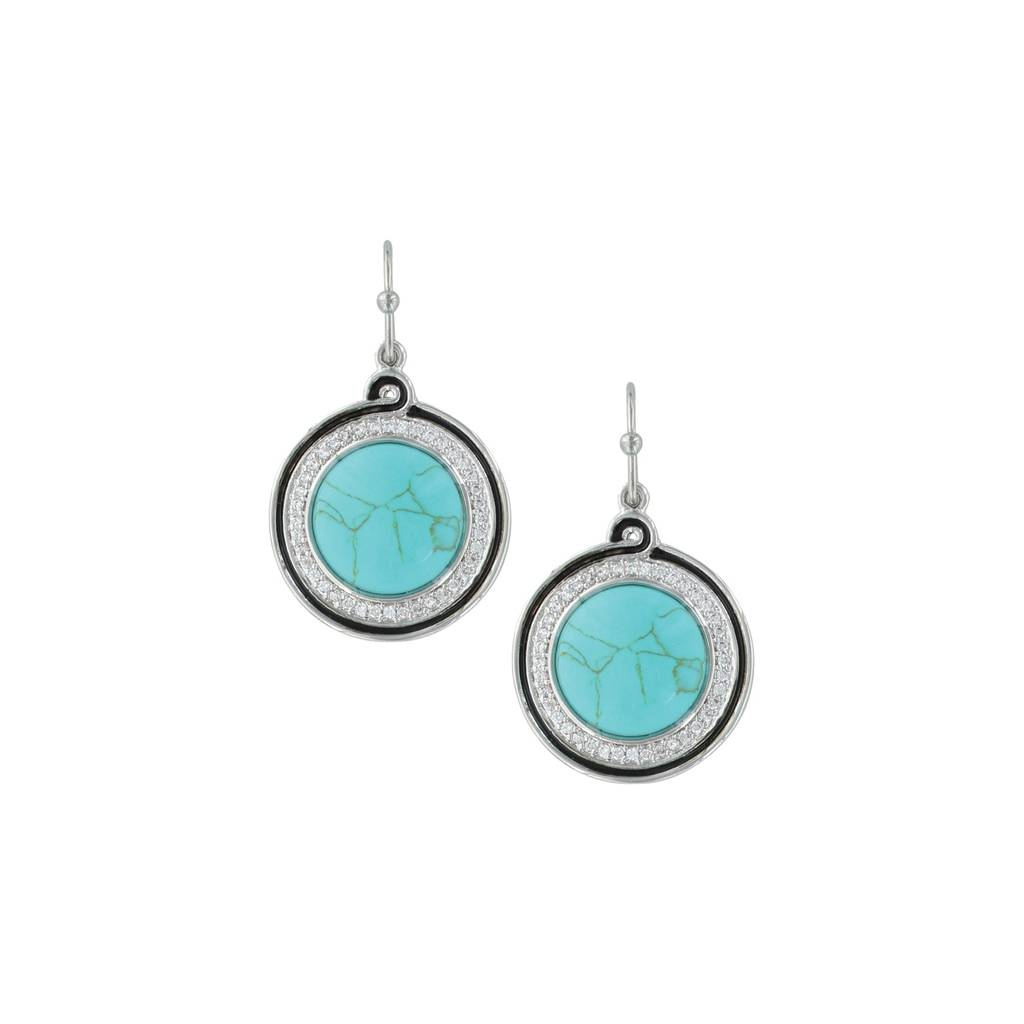 Montana Silversmiths Classic Turquoise Medallion Earrings