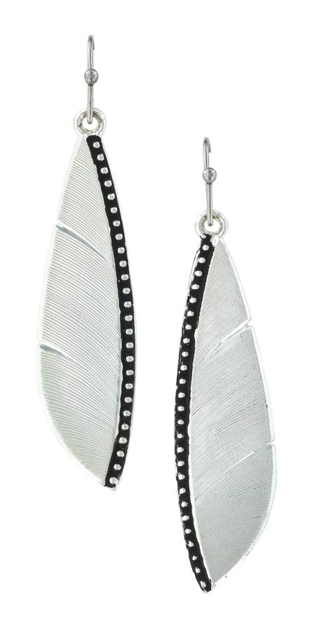 Montana Silversmiths Beaded Plume Feather Earrings