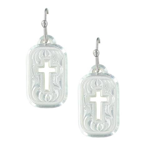 Montana Silversmiths Mini Tokens Of Faith Cross Earrings