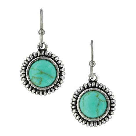 Montana Silversmiths Turquoise Sunflower Earrings
