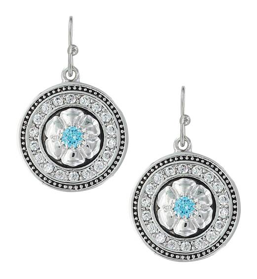 Montana Silversmiths Brilliant Posy Medallion Earrings