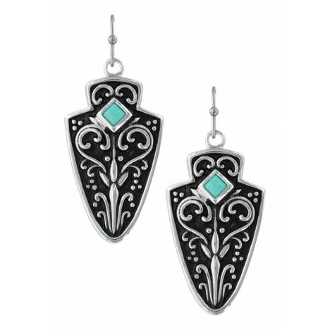 Montana Silversmiths Filigree Arrowhead Earrings