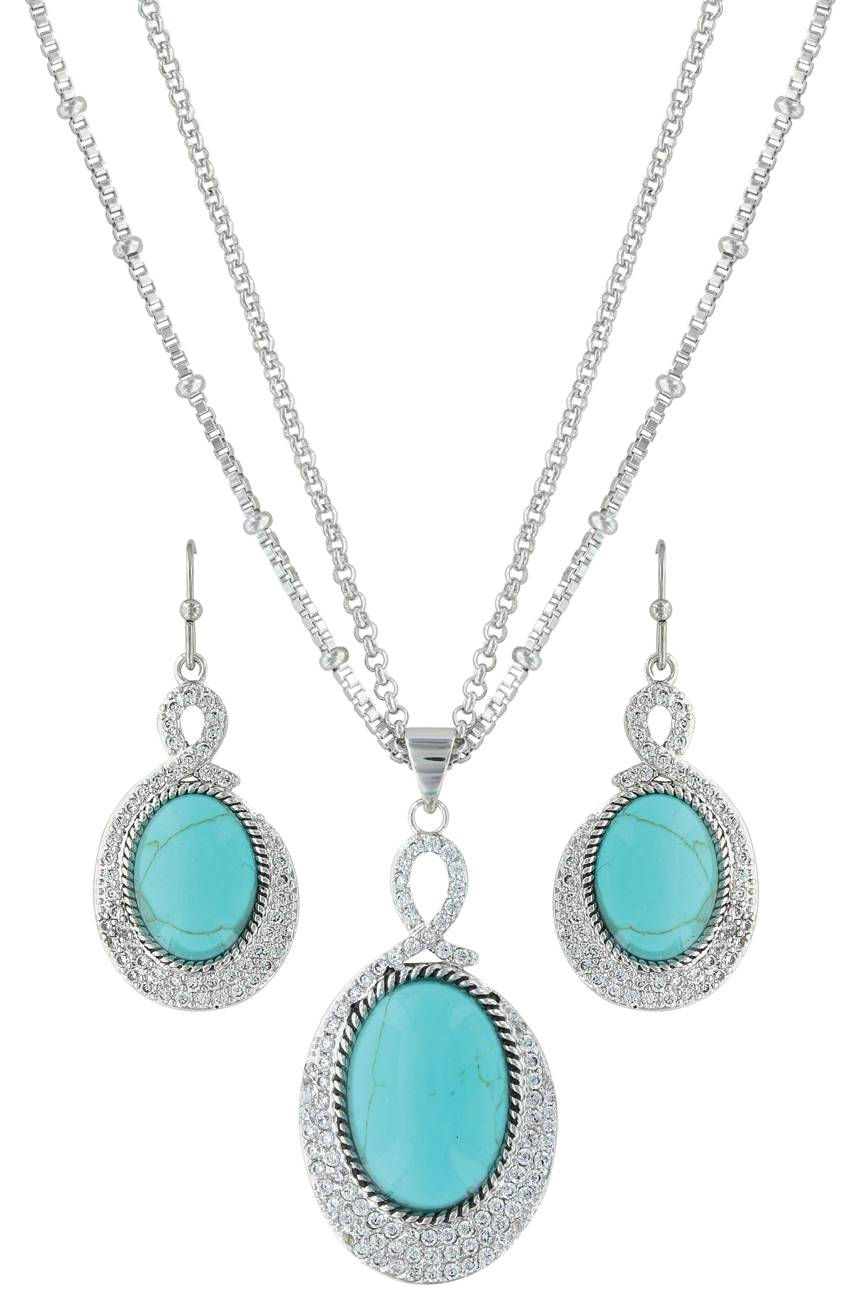 Montana Silversmiths Curling Path Jewelry Set