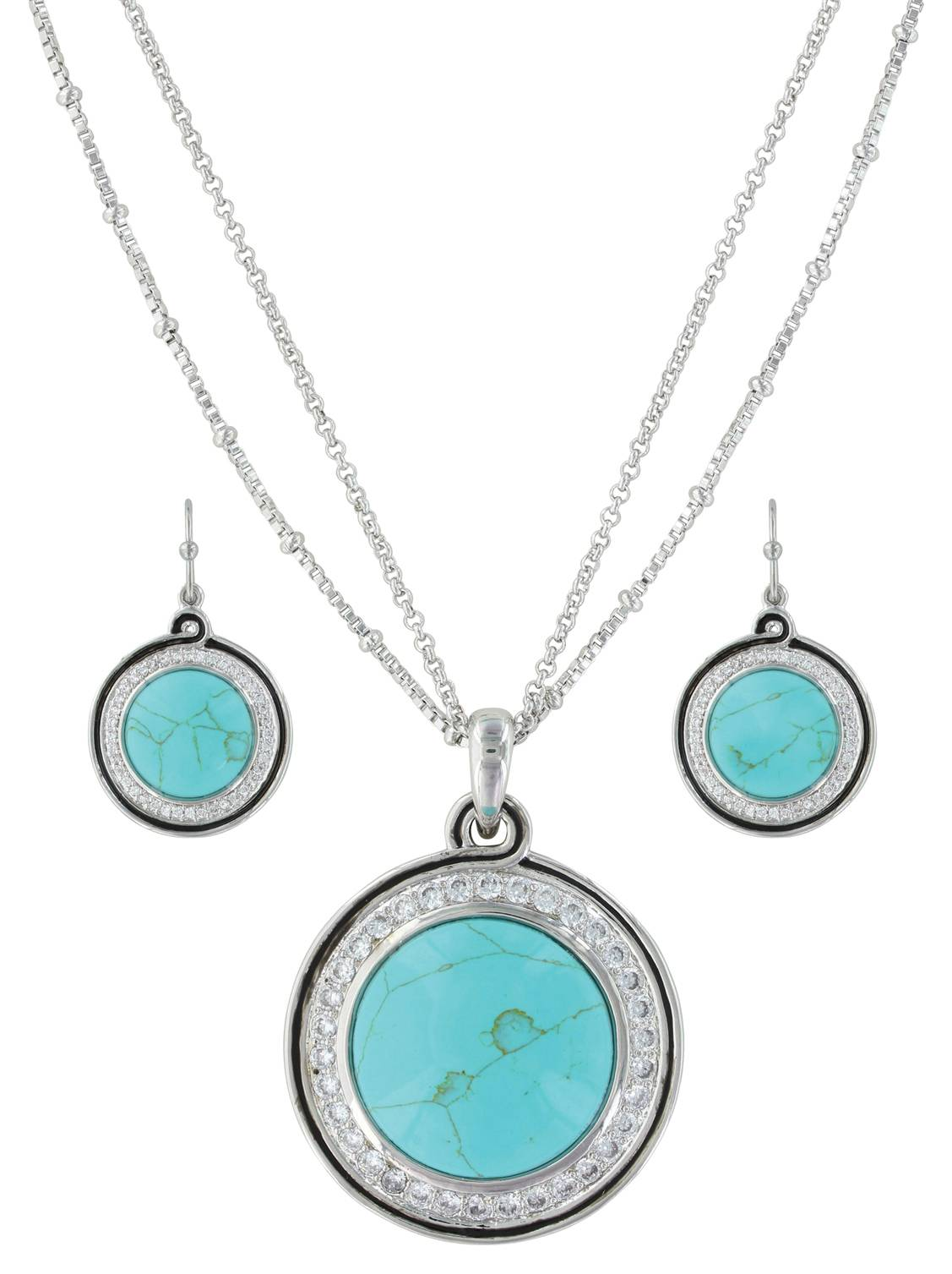 Montana Silversmiths Classic Turquoise Medallion Jewelry Set