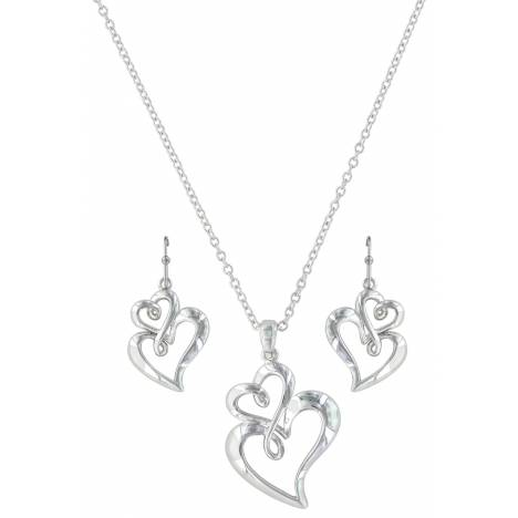 Montana Silversmiths Infinite Love Heart Jewelry Set