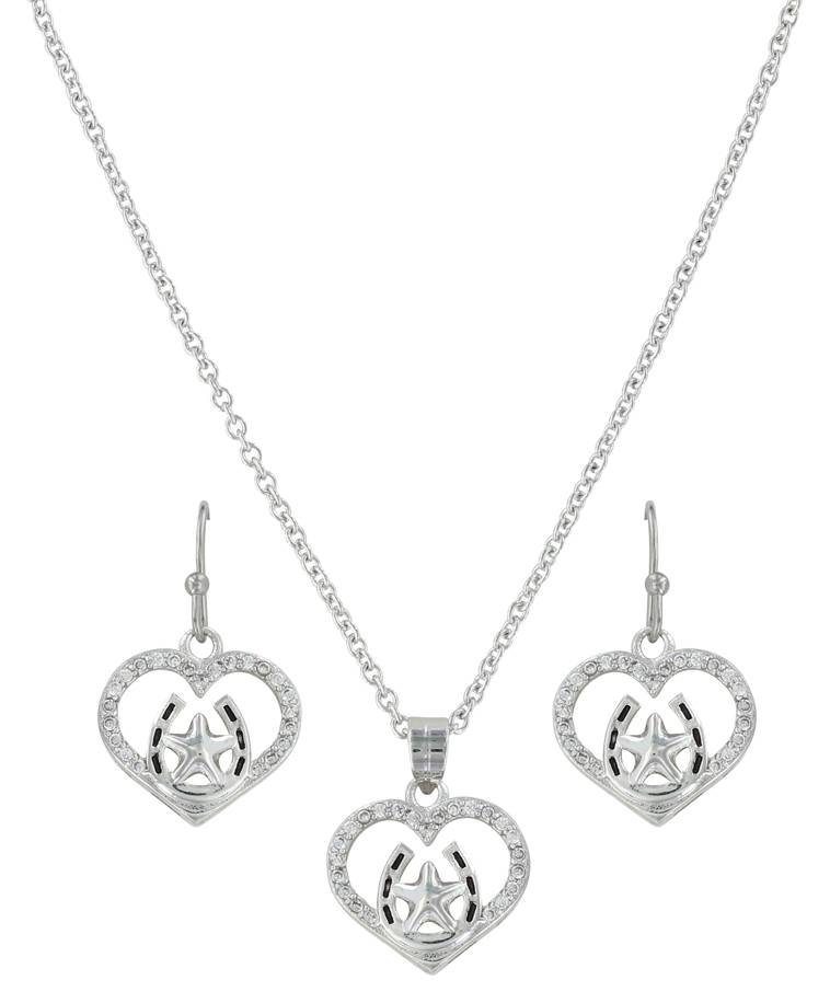 Montana Silversmiths Star Of My Heart Horseshoe Jewelry Set