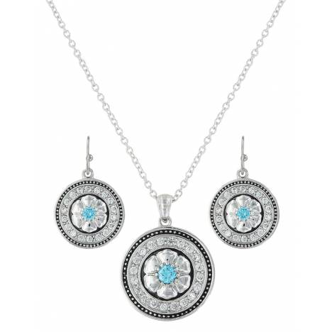 Montana Silversmiths Brilliant Posy Medallion Jewelry Set
