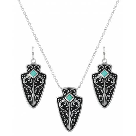 Montana Silversmiths Filigree Arrowhead Jewelry Set