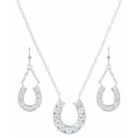 Montana Silversmiths Hanging Horseshoe Basket Jewelry Set