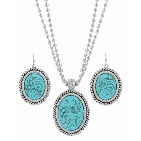 Montana Silversmiths Carved Legacy Jewelry Set
