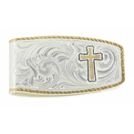Montana Silversmiths Two Tone Classic Cross Figure Money Clip