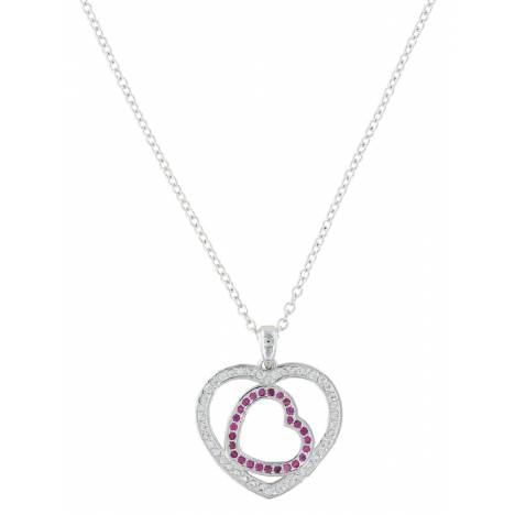 Montana Silversmiths Loves First Blush Heart Necklace