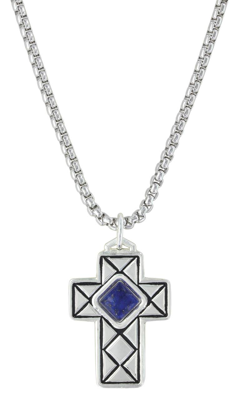 Montana Silversmiths Crosscut Pillowed Cross Necklace