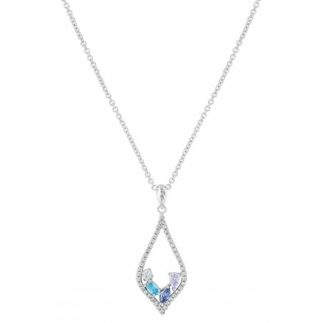 Montana Silversmiths River Of Lights At The Waters Edge Teardrop Necklace