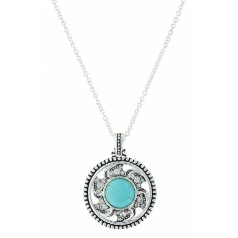 Montana Silversmiths Tumbling Flower Medallion Necklace