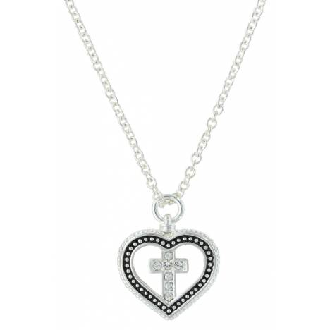 Montana Silversmiths All You Need Is Faith & Love Heart Necklace