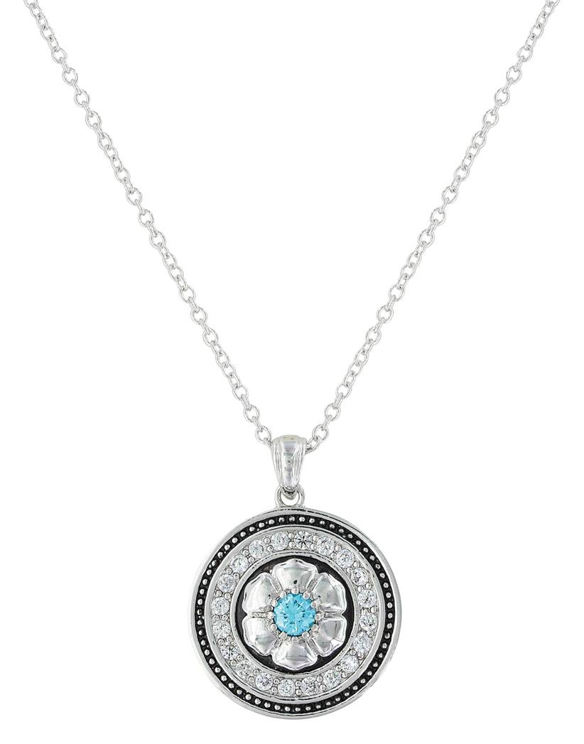 Montana Silversmiths Brilliant Posy Medallion Necklace