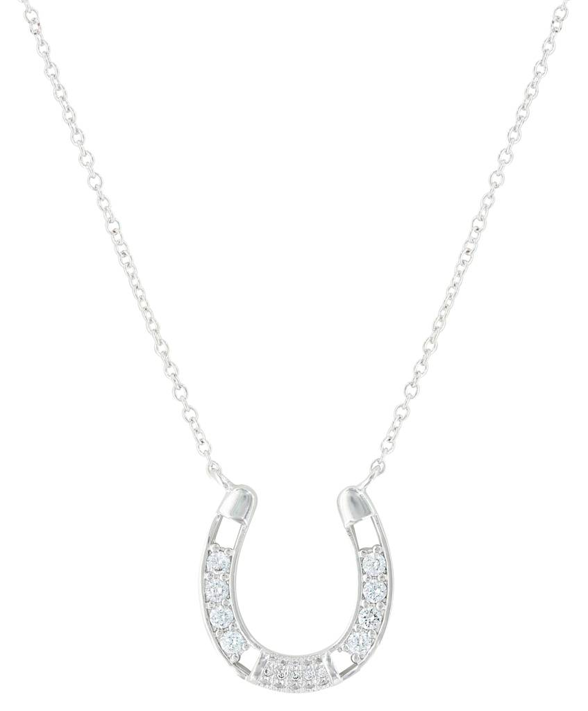 Montana Silversmiths Fastened In Sparkles Horseshoe Necklace