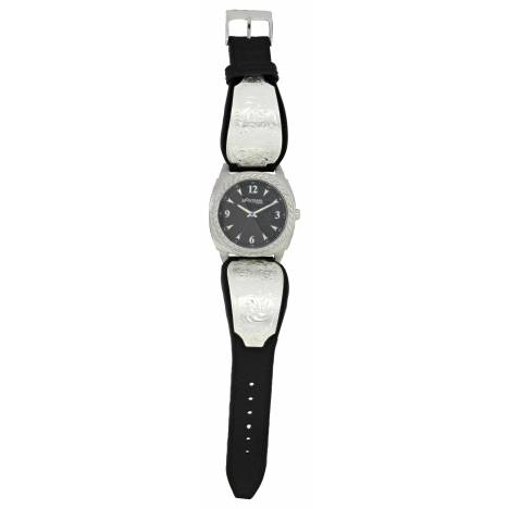 Montana Silversmiths Stroke Of Midnight Leather Band Watch