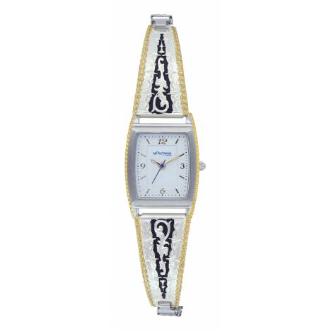 Montana Silversmiths Two Tone Barbed Filigree Expansion Watch