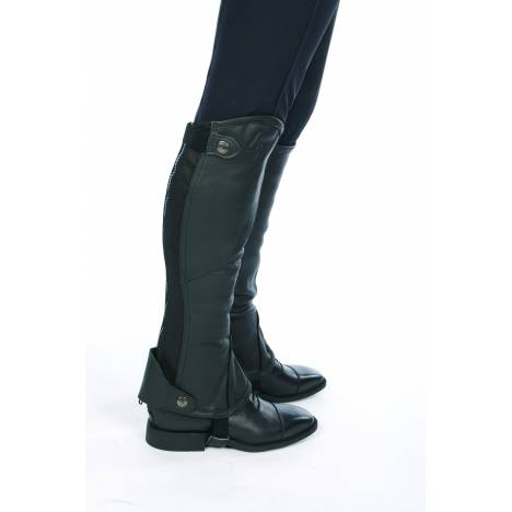 Lami-Cell Black Leather Mini-Chaps - Ladies