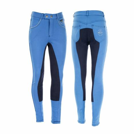 Horze Jen Jr Narrow Fit Breeches - Kids, Full Seat