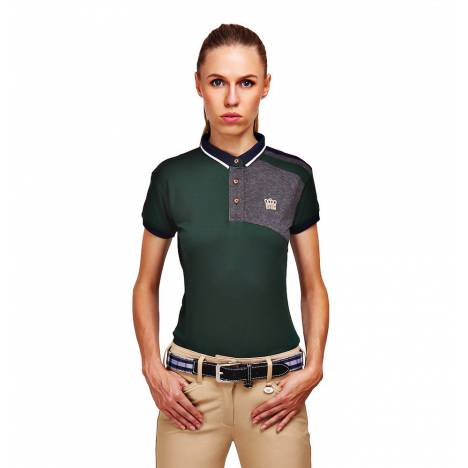 Equine Couture Hunter Short Sleeve Polo Shirt- Ladies