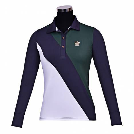 Equine Couture Pro Sport Long Sleeve Polo Shirt- Ladies