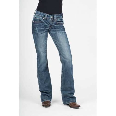 Stetson Ladies 816 Diamond Deco Back Pocket Classic Boot Cut Flared Leg Jeans