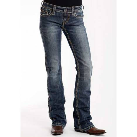 Stetson Ladies 818 Contemporary Style Reverse S Embroidered Back Pocket Jeans