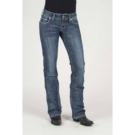 Stetson Ladies Arrow Details Pieced Back Pocket Boot Cut Jeans